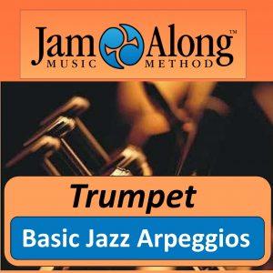 trumpet lesson - basic jazz arpeggios - product image