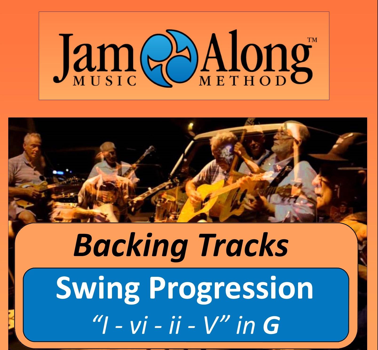 Swing Progression (I - vi - ii - V) - Backing Tracks