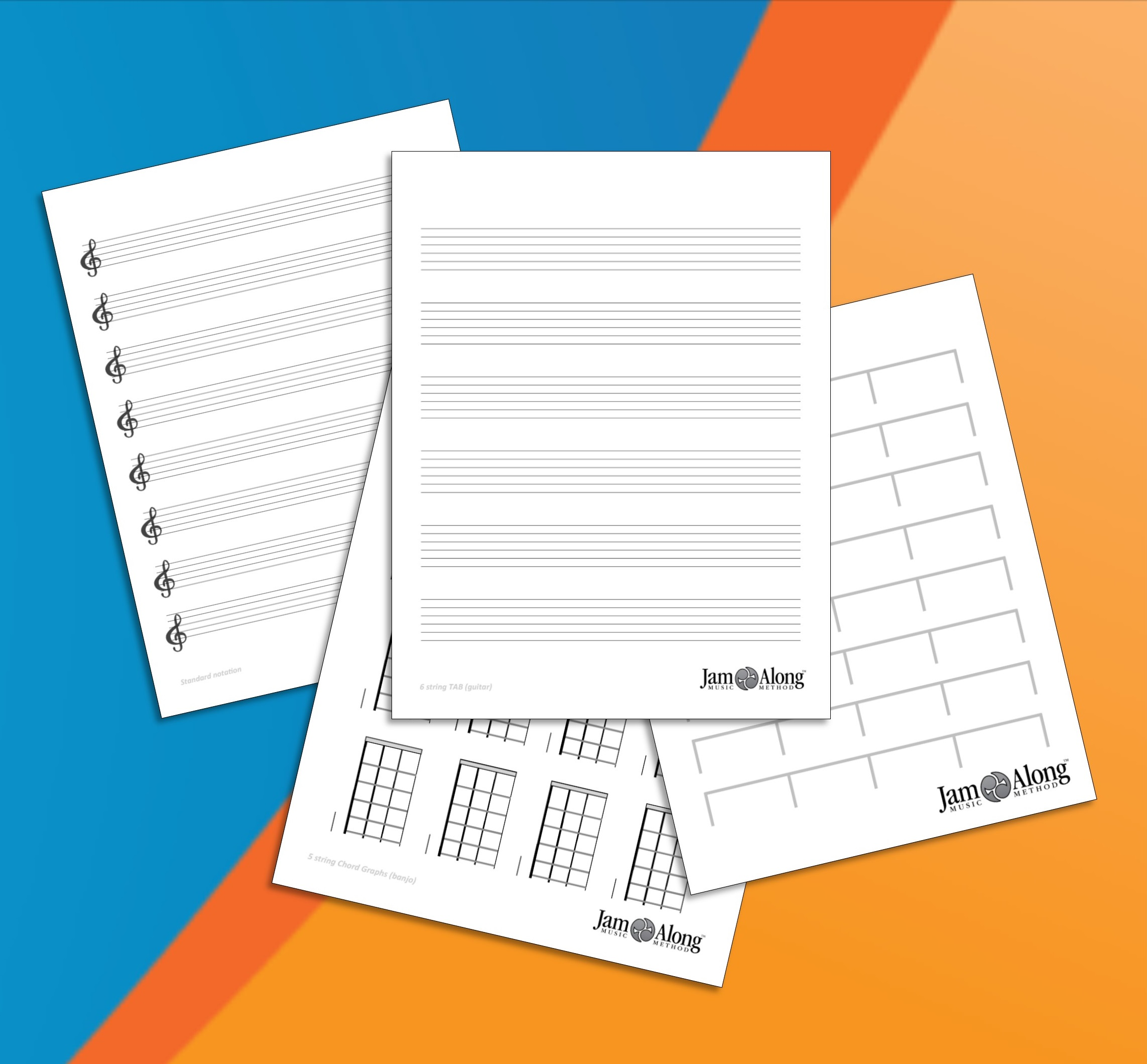 Music Paper And Blank Charts Jamalong Music Method
